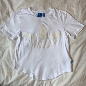 white Adidas women's top